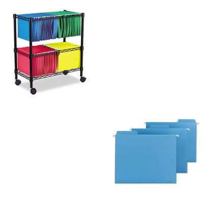 KITALEFW601426BLSMD64099 - Value Kit - Smead FasTab Hanging File Folders (SMD64099) and Best Two-Tier Rolling File Cart (ALEFW601426BL) by Smead
