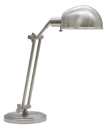 House of Troy AD450-SN Addison 1LT Adjustable Desk Lamp, Satin Nickel (Nickel Adjustable Pharmacy Floor Lamp)