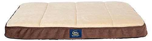 Serta Ortho Quilted Memory Foam Crate Mat Cover, Medium, Brown - Replacement Cover Only by Serta Pet