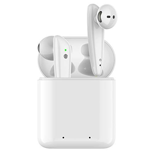 (Wireless Earbuds, Bluetooth 5.0 Infrared Sensor Headphones, in-Ear Completely Wireless Stereo Earphones,Mini Noise Cancelling Earphones, Original Hi-Fi Sound Earphone w/Charger Case 30 Hours. )