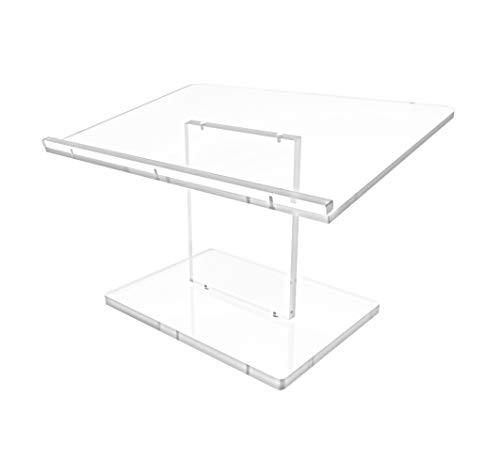 FixtureDisplays Acrylic Tabletop Lectern, Clear, Optional Custom Logo 119787