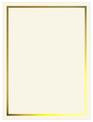 Gold Foil Invitation, Flat Card 5x7, Ecru Cardstock, 80lb, 50 Pack