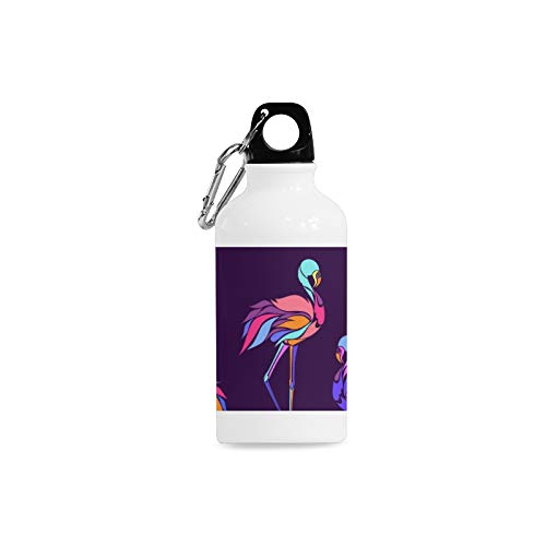 YPink 13.5 Oz Stainless Steel Water Bottle for Girls Simple Design and Creative Silicone Safety Buckle Silicone Safety Buckle Sports Aluminum Water Bottle for Adult Travel Football