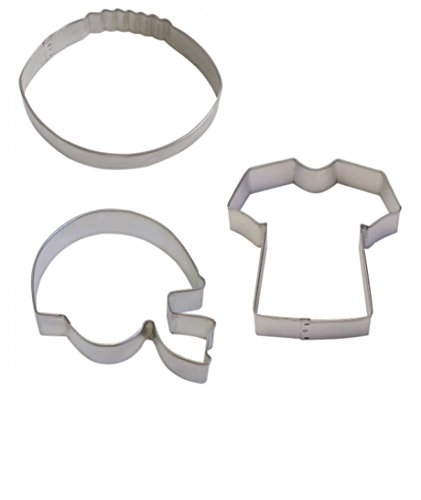 Football Cookie Cutter & Helmet Cookie cutter & T-Shirt Cookie cutter