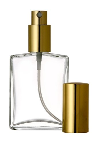 ogne Atomizer Glass Bottle Gold Sprayer 60ml 2 oz (Set of 3 Bottles) ()