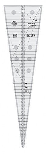 Creative Grids 15 Degree Triangle Triple Strip Quilting Ruler (CGREU1) (Triangle Shaped Plates)