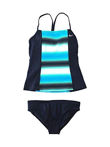 NIKE Women's Tankini Athletic Two-Piece Swimsuit (Large) (Swimsuit 2 Piece Nike)