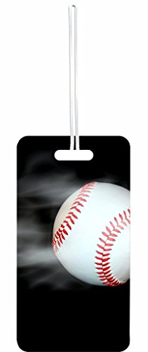 Smoking Baseball Rosie Parker Inc. Luggage Tag with Personalized Back