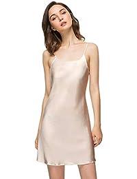 28dd68bdb4f Women s Long Silky Tank Top Adjustable Spaghetti Strap Camisole Slip Dress
