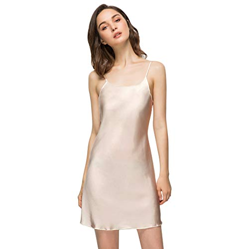 Miqieer Women Full Slip, Satin Silk Blend Scoop Neck Slip Cami Dress Nightwear ()