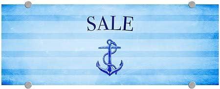 Nautical Stripes Premium Acrylic Sign 5-Pack CGSignLab 8x3 Sale