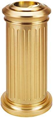 ごみの入れ替えが簡単 創造的なレトロのゴミ箱のホテルの屋外のゴミ箱は耐久性があり、美しくそして実用的です。 ホームオフィスバスルームペーパーバスケット (Color : Gold)