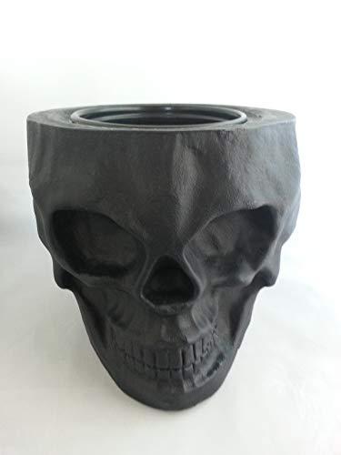 - Skull Tiki Planter {Black}