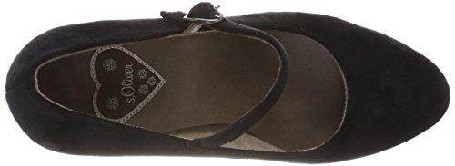 Tacón s Negro 24410 Oliver Mujer de 1 Zapatos Black 31 para ZZgrF