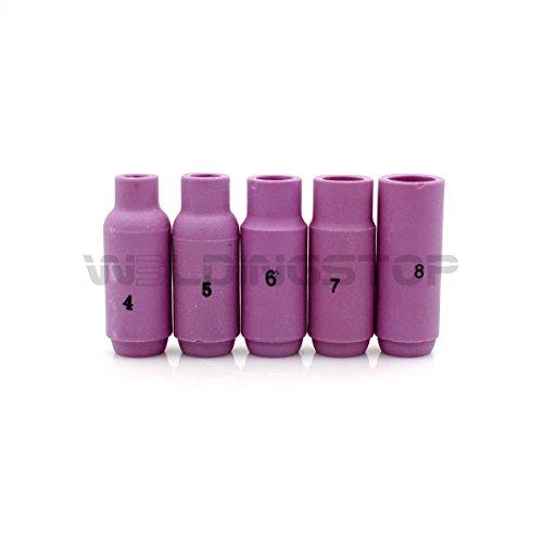 WS PKG-5 WP 17 18 26 TIG Welding alumina Nozzle Ceramic Cup #4 5 6 7 8 Ref 10N50 10N49 10N48 10N47 10N46 TIG Consumables