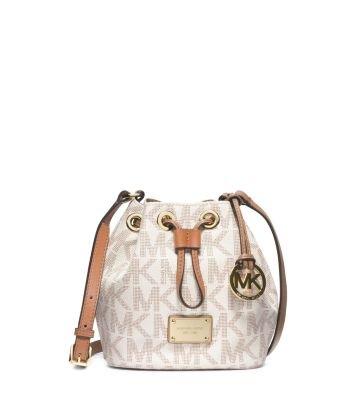 Drawstring Signature Handbag (michael kors jules drawstring small crossbody signature vanilla beige)