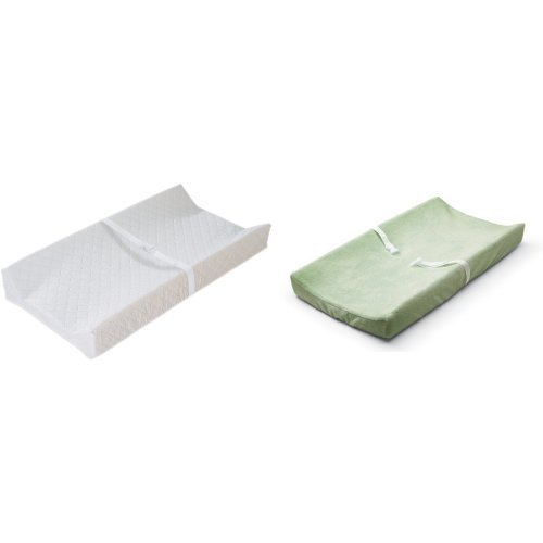 Price comparison product image Summer Infant Contoured Changing Pad Amazon Frustration Free Packaging and Sage Cover