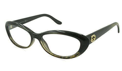 Gucci Rx Eyeglasses - GG3566 Black Gold / Frame only with demo - Logo Black Gucci