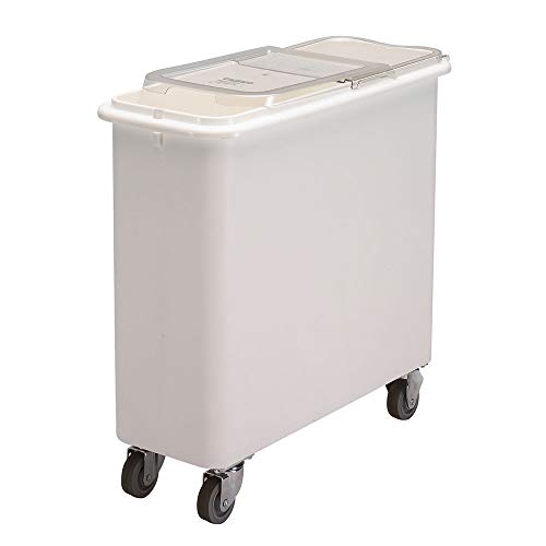 - Cambro IBSF27148 27-gal Mobile Ingredient Bin - Sliding Cover, White/Clear