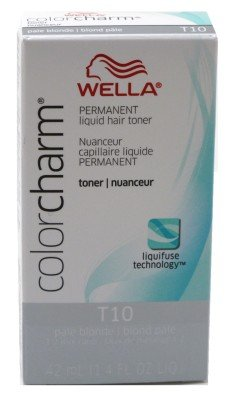 Liquid Color Charm (Wella Color Charm Liquid Toner #T10 Pale Blonde (41ml) (2 Pack))