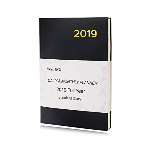 2019 Standard Diary Daily Reminder Monthly and Weekly Planner A5 Size Dated Notebook (January 2019 - December 2019)