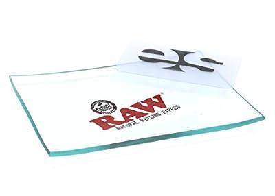 RAW Mini Glass Rolling Tray by RAW