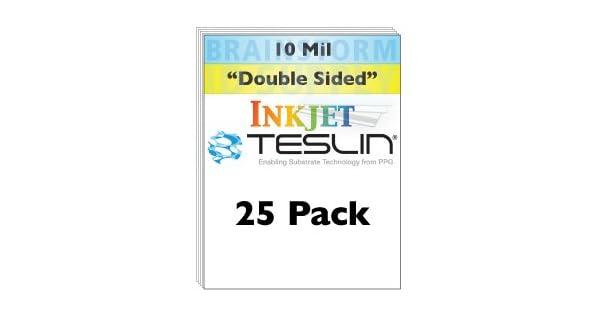 Amazon.com: Inyección de tinta Teslin® Papel sintético – 25 ...