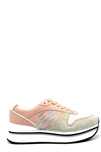 39 White n Platform Armani Silver Emporio Nude Sneakers nCOw10fqP