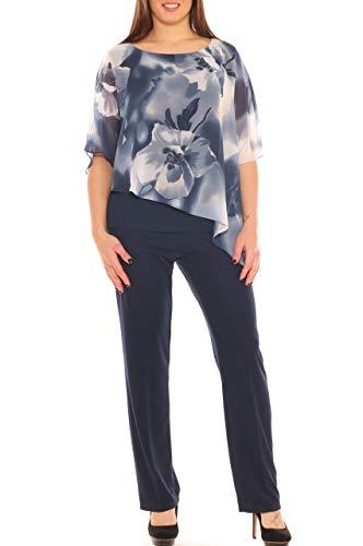 pantalon OversizeTailleur Foncé Perla Femme Bleu n0v8wOymNP