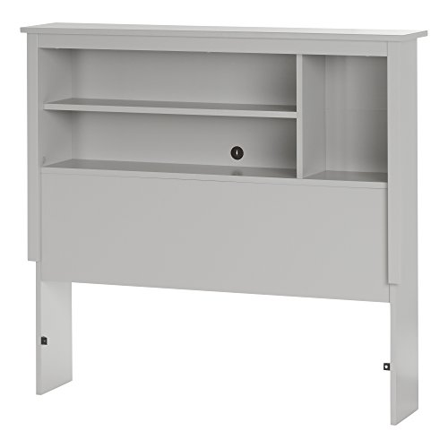 South Shore Vito 39'' Bookcase Headboard, Twin, Soft Gray by South Shore