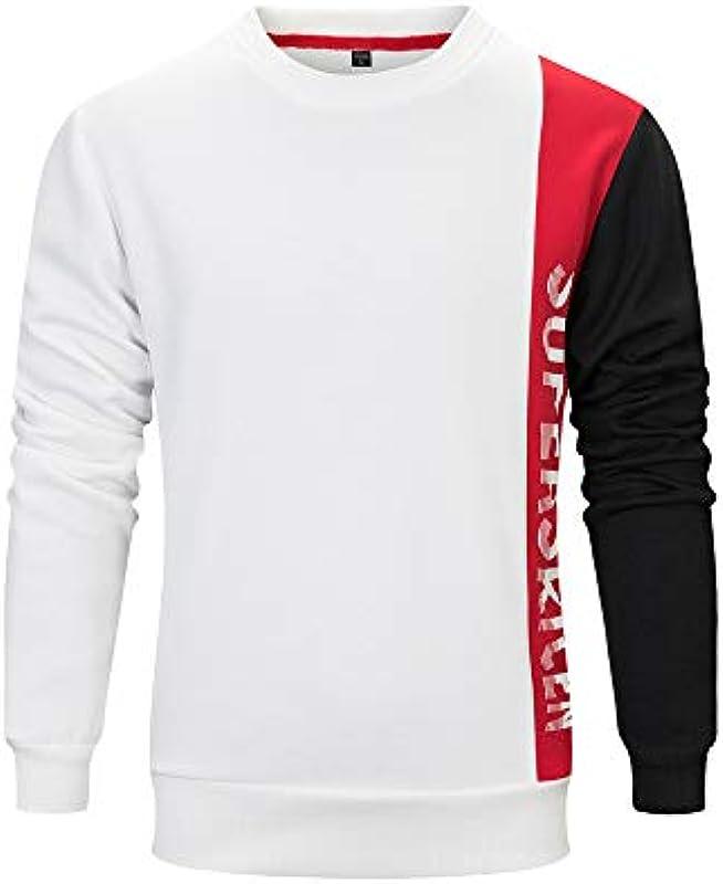 OSYARD sweter Streetwear męski jesień zima list brud bluzka elegancka bawełna t-shirt top długi rękaw czas wolny sport bluza Locker Splice Basic sweter dziergany: Odzież