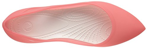 oyster Flat Crocs W coral Femme Rouge Ballerines Rio 101Pv