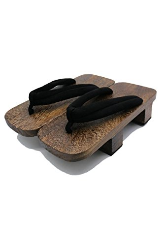 ShonanH Japanese Traditional Sandals Geta Wooden Clogs Shoes