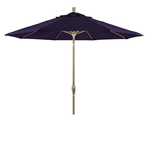 Eclipse Collection 9' Aluminum Market Umbrella Push Tilt -Champagne/Pacifica/Purple
