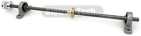 AiCheaX - Tornillo base T8 300/330/350/400 / 500 mm 8 mm de latón ...