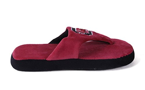 (SCU08-3 - South Carolina Gamecoks - Large - Happy Feet Men's and Womens Comfy Flop Slipper)