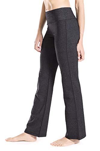 Yogipace 27/28/29/30/31/32/33/35/37 Inseam,Petite/Regular/Tall, Women's Bootcut Yoga Pants Long Workout Pants, 31, Charcoal, Size XXL