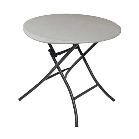 Folding Round Table Top.Lifetime 80230 Folding Round Table 33 Inch Putty