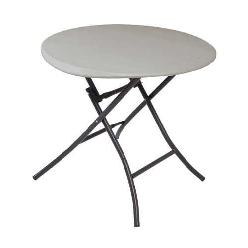 Lifetime 80230 Folding Round Table, 33 Inch, Putty (Table 48 Patio Round Resin)