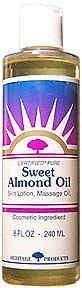 Heritage Store Sweet Almond Oil 8 Fz
