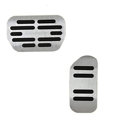 For Toyota Corolla 2014 2015 2016 2017 Car Non-Slip Performance Brake Pedal Cover Aluminum Alloy Rubber Anti-Slip Accelerator Foot Pedals 2Pcs ()