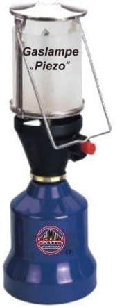 Lámpara de camping Lámpara de gas Linterna que acampa con Piezozuendung + 1 Cartucho de gas