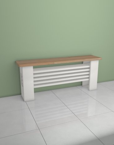 Aqua Desk – Radiador banc- regulador termostático incluido – Design horizontal 455 x 1600 mm