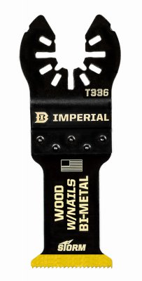Imperial Blades IBOAT336-1 Oscillating Tool Blade, Wood With Nails, Bi-Metal, 1.25-In. - Quantity 25