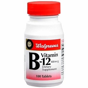 Walgreens Vitamin B-12 100mcg Tablets, 100 ea