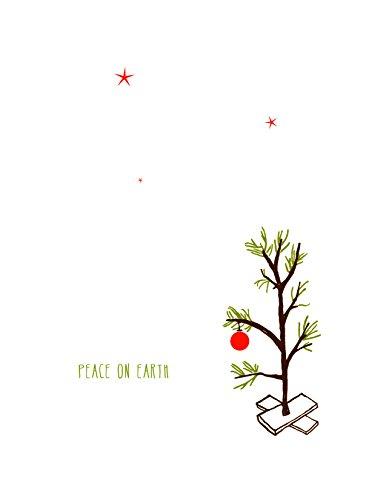 (Lark Press Tiny Tree Peace on Earth Winter Holiday Card, 4.25