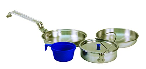 - Texsport 5 Piece Heavy Duty Aluminum Outdoor Camping Cookware Mess Kit