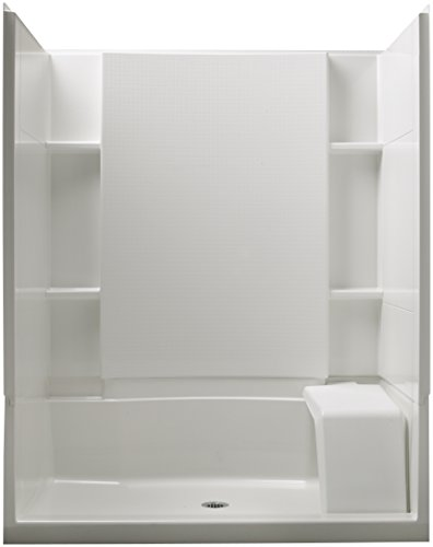 STERLING 72290100-0 Accord 36-Inch x 60-Inch x 74-1/2-Inch Standard Fit Shower Kit with Seat, - Vikrell Material