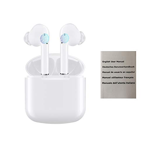 Bluetooth Earbuds I9X Wireless Earbuds Bluetooth Headset Bluetooth Headphones 5.0 Auto Pairing Mini in-Ear Noise Canceling Earphones with Charger Case Hands-Free Calls for Driving Exercise
