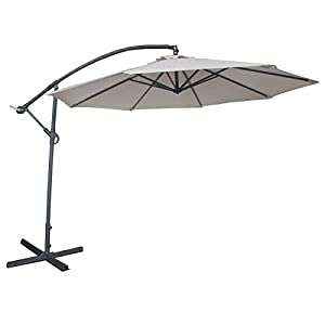 Abba Patio 10-Feet Offset Cantilever Umbrella Outdoor Hanging Patio Umbrella, Ivory